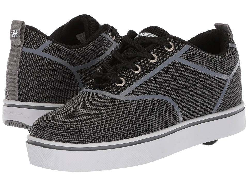 Heelys - Launch Knit (Little Kid/Big Kid/Adult) (Black/Charcoal Knit) Boys Shoes
