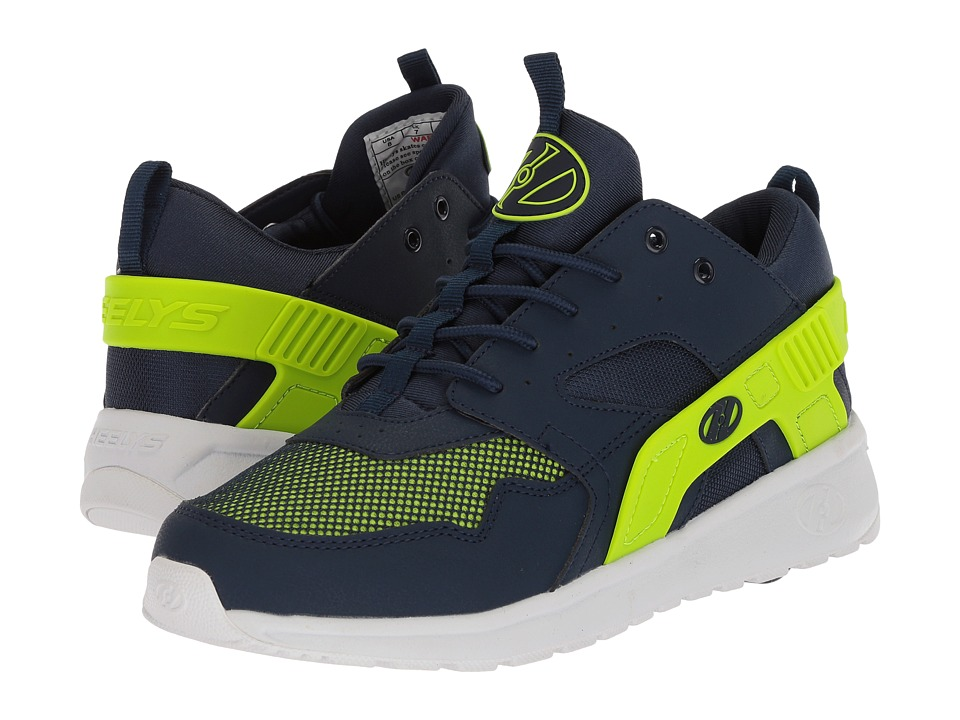Heelys - Force (Little Kid/Big Kid/Adult) (Navy/Neon Yellow) Boys Shoes
