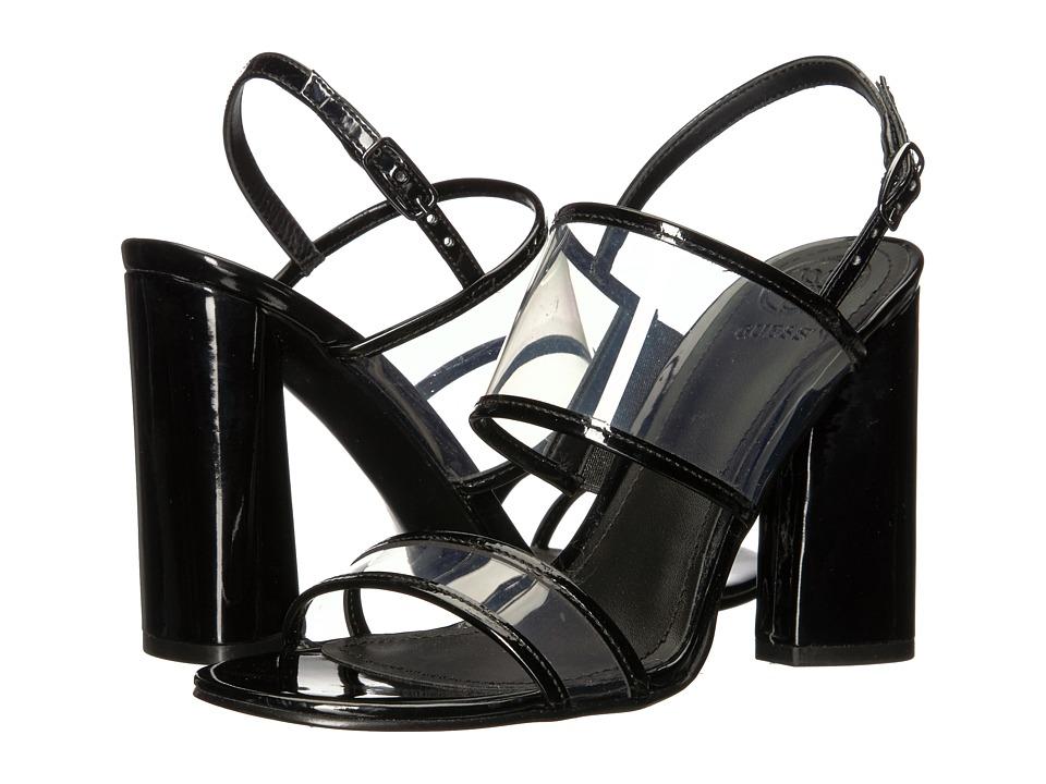 GUESS - Amidala (Clear/Black Synthetic) High Heels