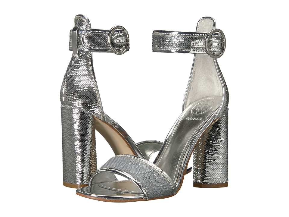GUESS - Abha (Silver/Argento Fabric) High Heels