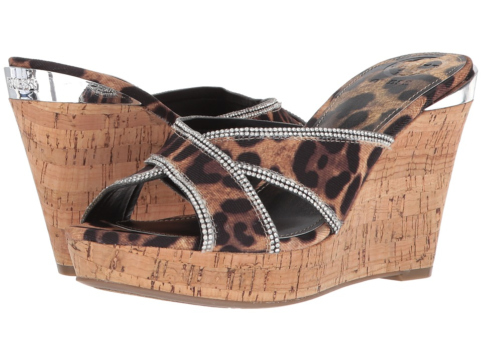 GUESS Eleonora (Brown Multi Fabric) Wedges