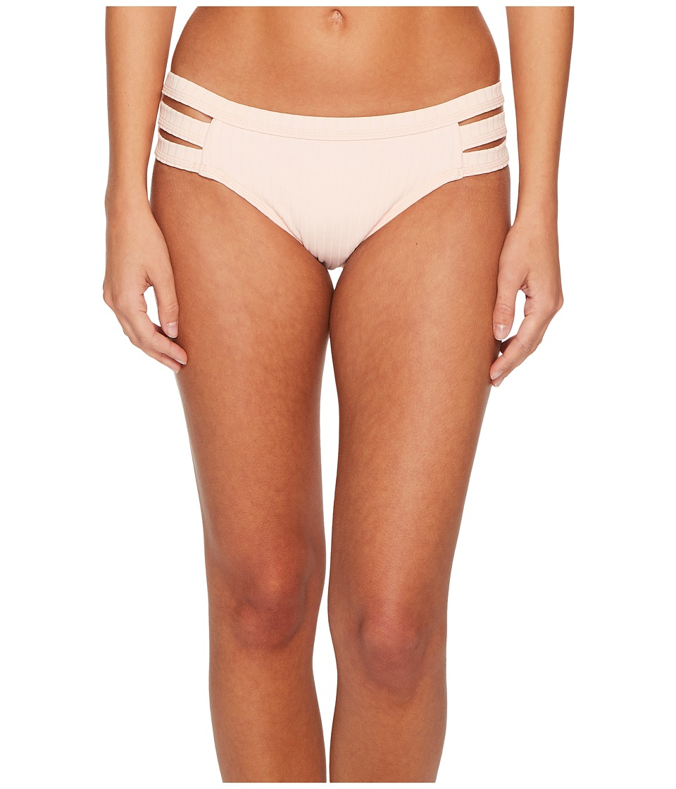Seafolly Inka Rib Multi Strap Hipster Bottoms (Rose Pink) Women
