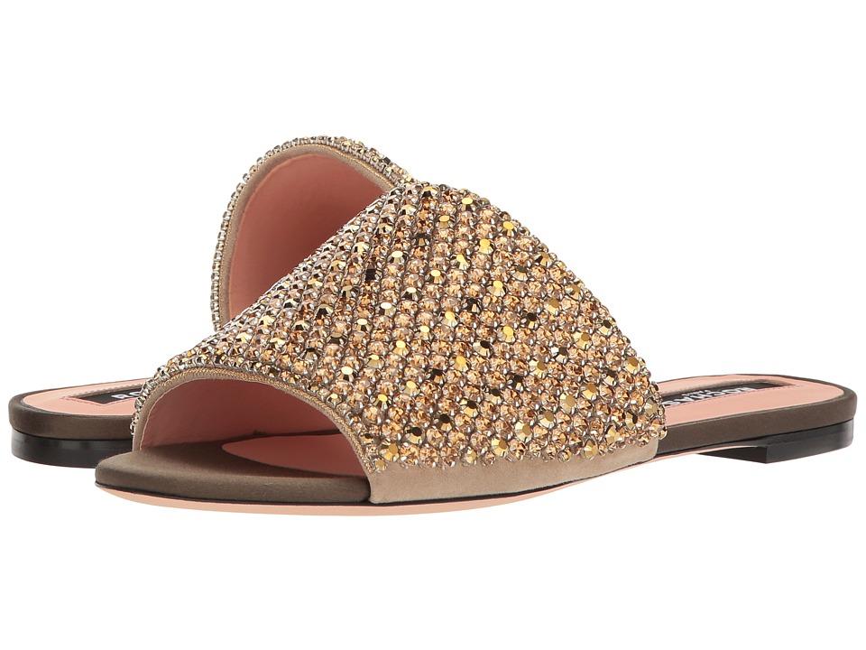 Rochas - RO30074-07059 (Ricamo Strass Golden/Raso Kaki) Womens Sandals