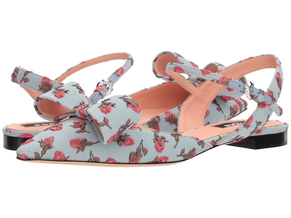 Rochas - RO30021-07011 (Brocc. Boccioli Menta/Rosso) Womens Shoes