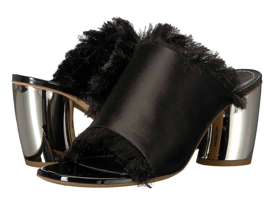Proenza Schouler - PS30108 (Raso Nero/Heel Galv. Silver) High Heels