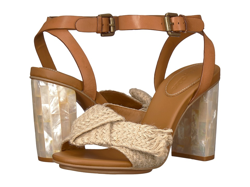 See by Chloe SB30052 (Juta Ribbon/Natural Calf/Cuoio) High Heels