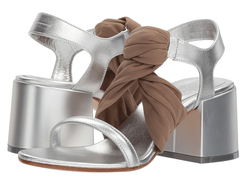 MM6 Maison Margiela Stocking Twist Sandal (Silver/Amber) Sandals
