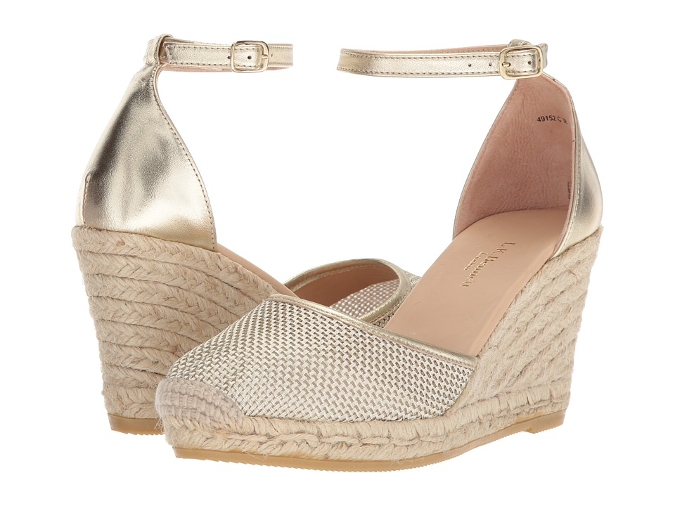 L.K. Bennett Halle (Soft Gold Metallic Fabric/Nappa) Women