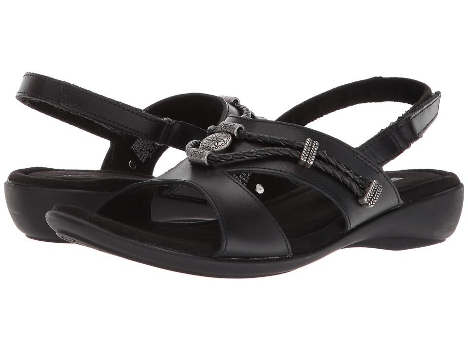 Minnetonka - Sylvia (Black Leather) Womens  Shoes