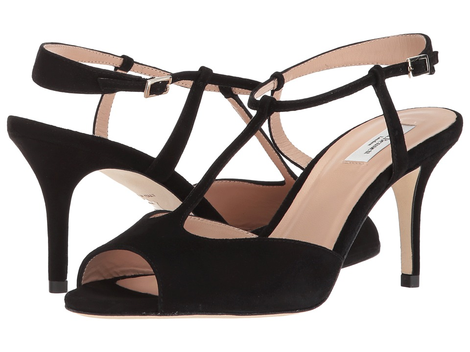 L.K. Bennett - Quinn (Black Suede) Women's Dress Sandals