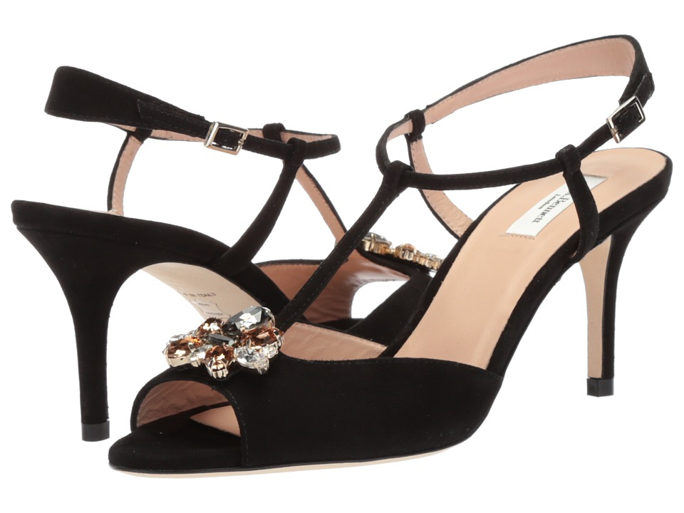 L.K. Bennett - Yvette (Black Suede) Women's Dress Sandals