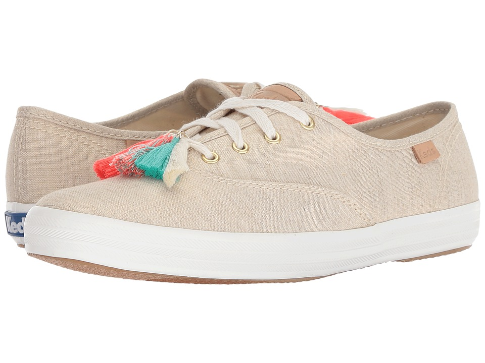 Keds - Champion Tassel (Natural/Gold) Womens Lace up casual Shoes