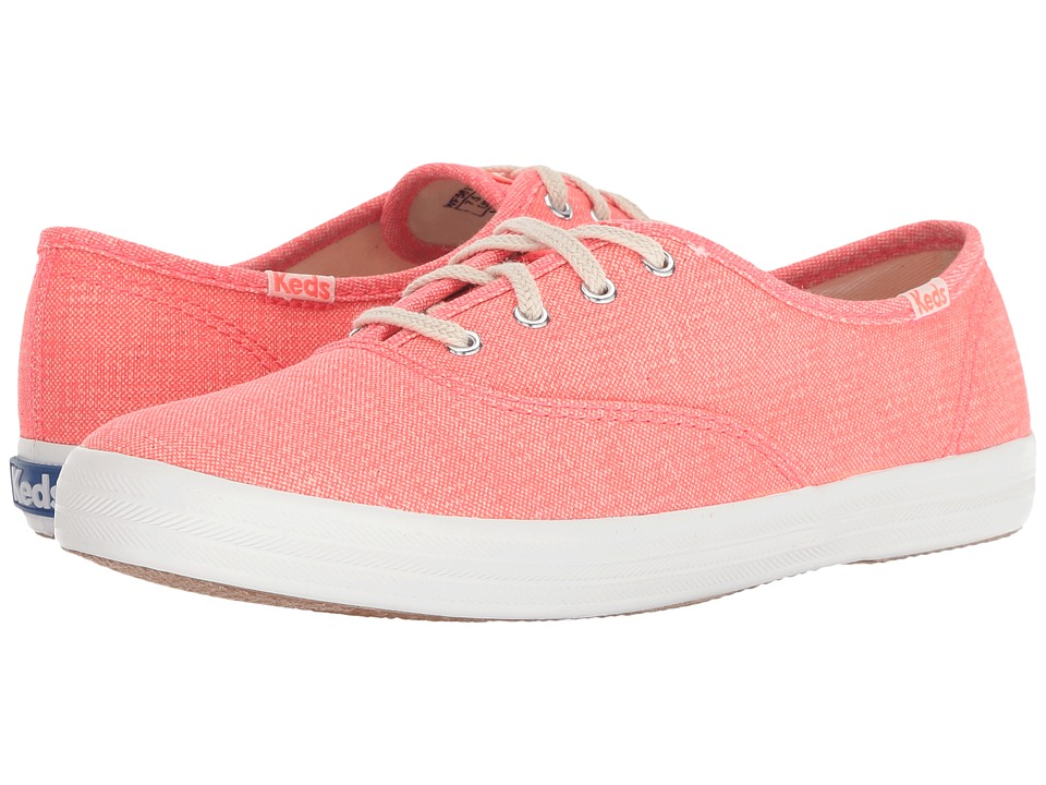 Keds - Champion Mini Brights (Coral) Womens Lace up casual Shoes