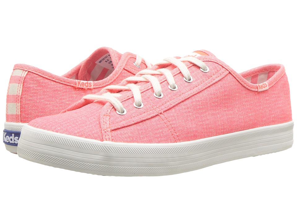 Keds - Kickstart Mini Brights (Coral) Womens Lace up casual Shoes