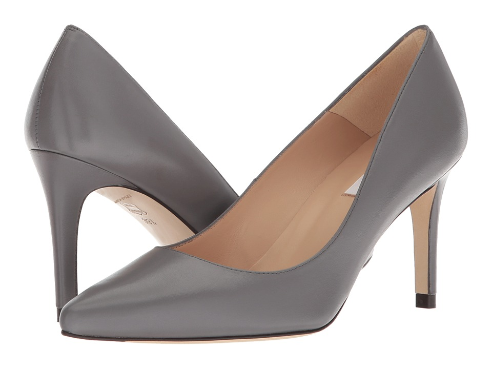 L.K. Bennett Floret (Warm Grey Nappa Leather) High Heels