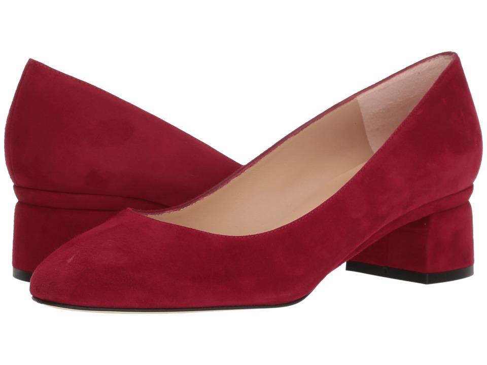 L.K. Bennett Nuriya (Red Poppy Suede) 1-2 inch heel Shoes