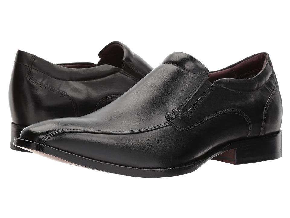 Johnston & Murphy - McClain Runoff Venetian (Black Full Grain) Mens Lace Up Cap Toe Shoes