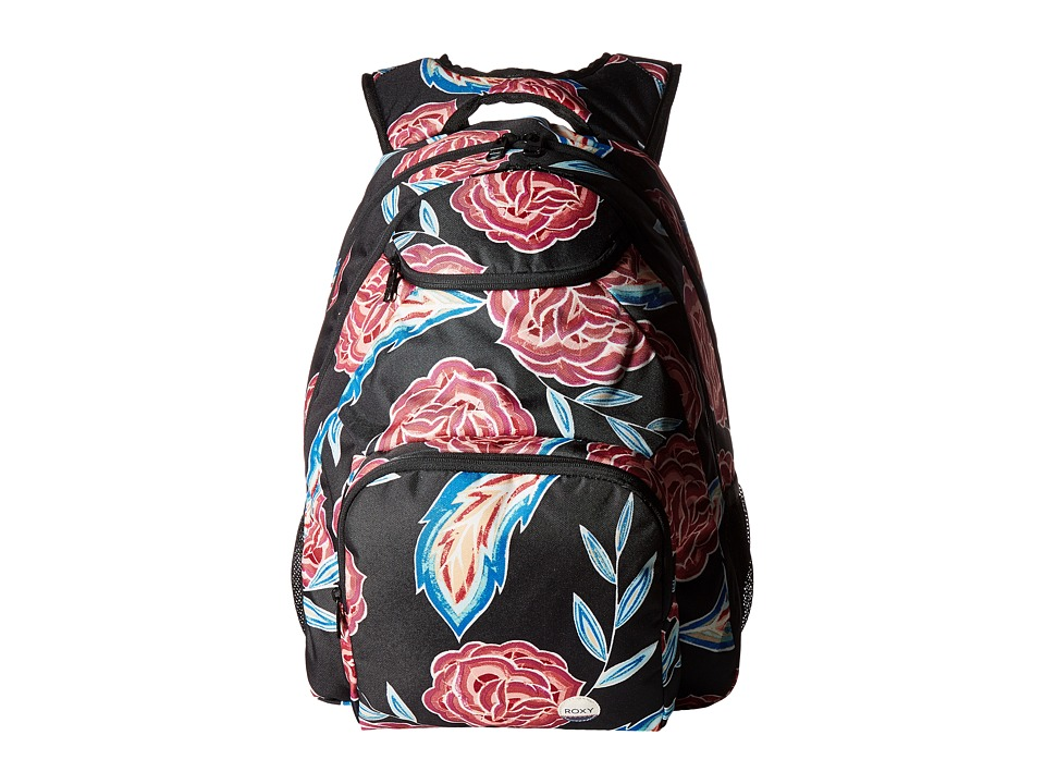 Roxy Shadow Swell Backpack (Anthracite Mexican Roses) Backpack Bags