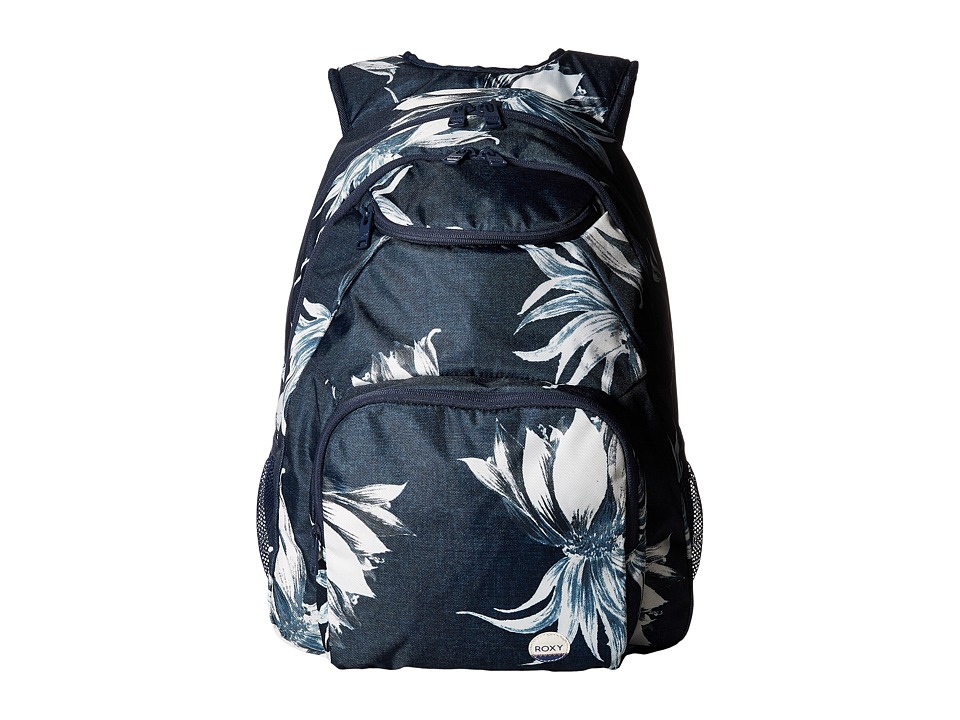 Roxy Shadow Swell Backpack (Dress Blue Cadaques Flower) Backpack Bags