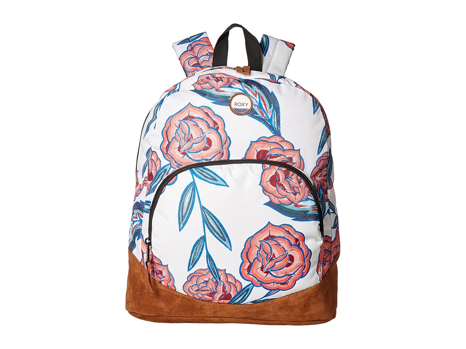 Roxy Fairness Backpack (Marshmallow Mexican Roses) Backpack Bags