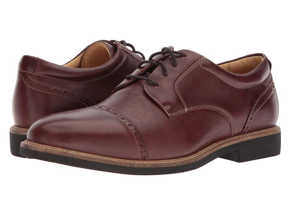 Johnston & Murphy - Barlow Cap Toe (Tobacco Soft Full Grain) Mens Lace Up Cap Toe Shoes