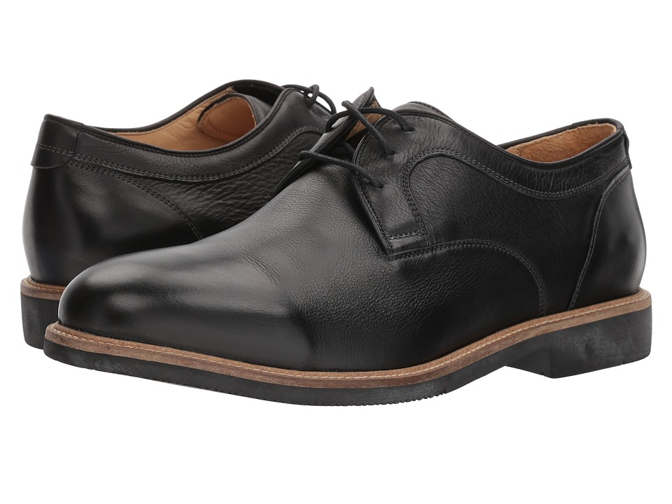 Johnston & Murphy - Barlow Plain Toe (Black Soft Full Grain) Mens Plain Toe Shoes