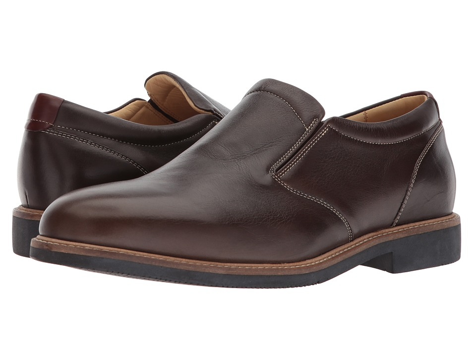 Johnston & Murphy - Barlow Venetian (Dark Brown Full Grain) Mens Slip-on Dress Shoes