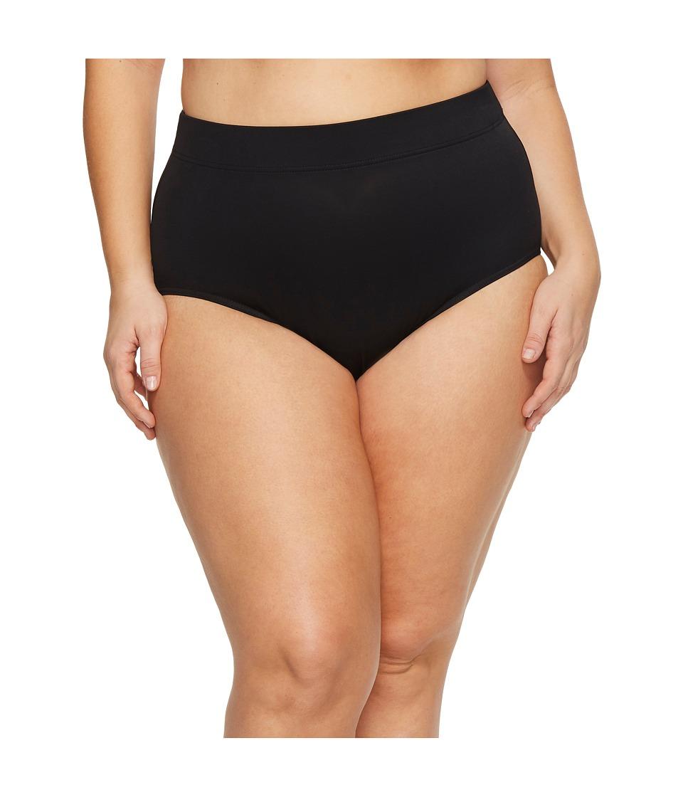 Miraclesuit Plus Size Basic Pant Bottoms (Black) Women
