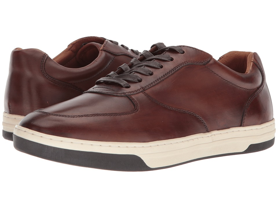 Johnston & Murphy - Fenton U-Throat (Tan Hand-Finished Calfskin) Mens Lace up casual Shoes