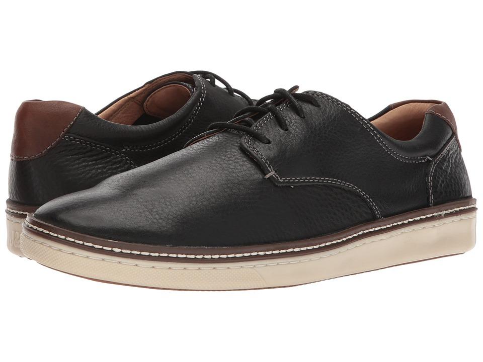 Johnston & Murphy - McGuffey Plain Toe (Black Oiled Nubuck) Mens Lace up casual Shoes