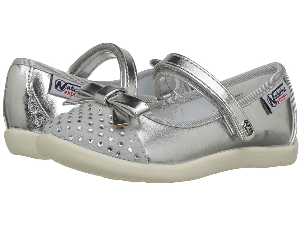 Naturino Express - Silvana (Toddler/Little Kid) (Silver) Girls Shoes