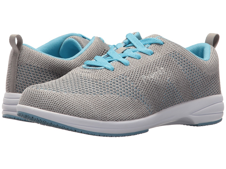 Propet Washable Walker Evolution (Light Grey/Light Blue) Women's Shoes