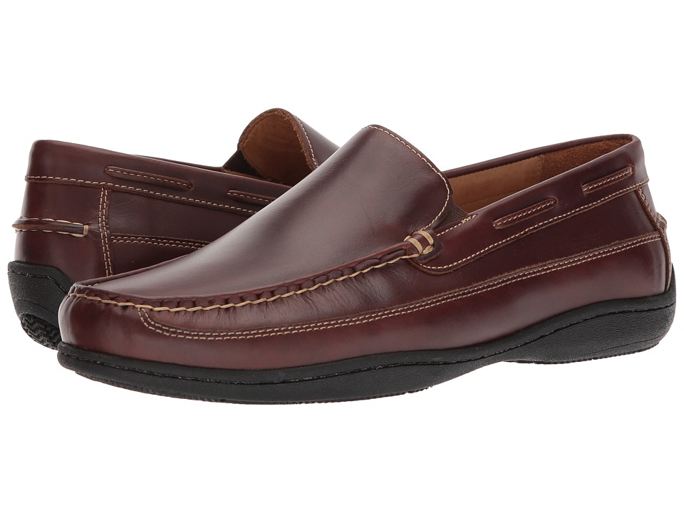 Johnston & Murphy - Fowler Venetian (Mahogany Pull-Up) Mens Slip on  Shoes