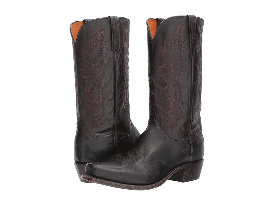 Lucchese Whittaker (Antique Bordeaux Mad Dog Goat) Cowboy Boots