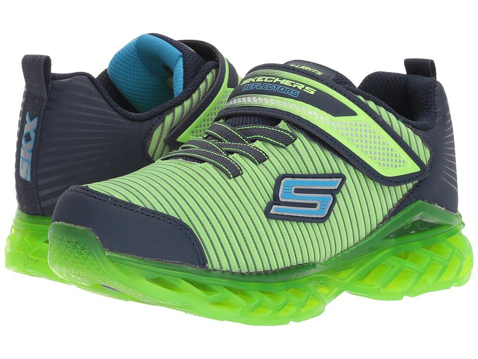 SKECHERS KIDS - Recharger Lights (Little Kid/Big Kid) (Lime/Navy) Boys Shoes