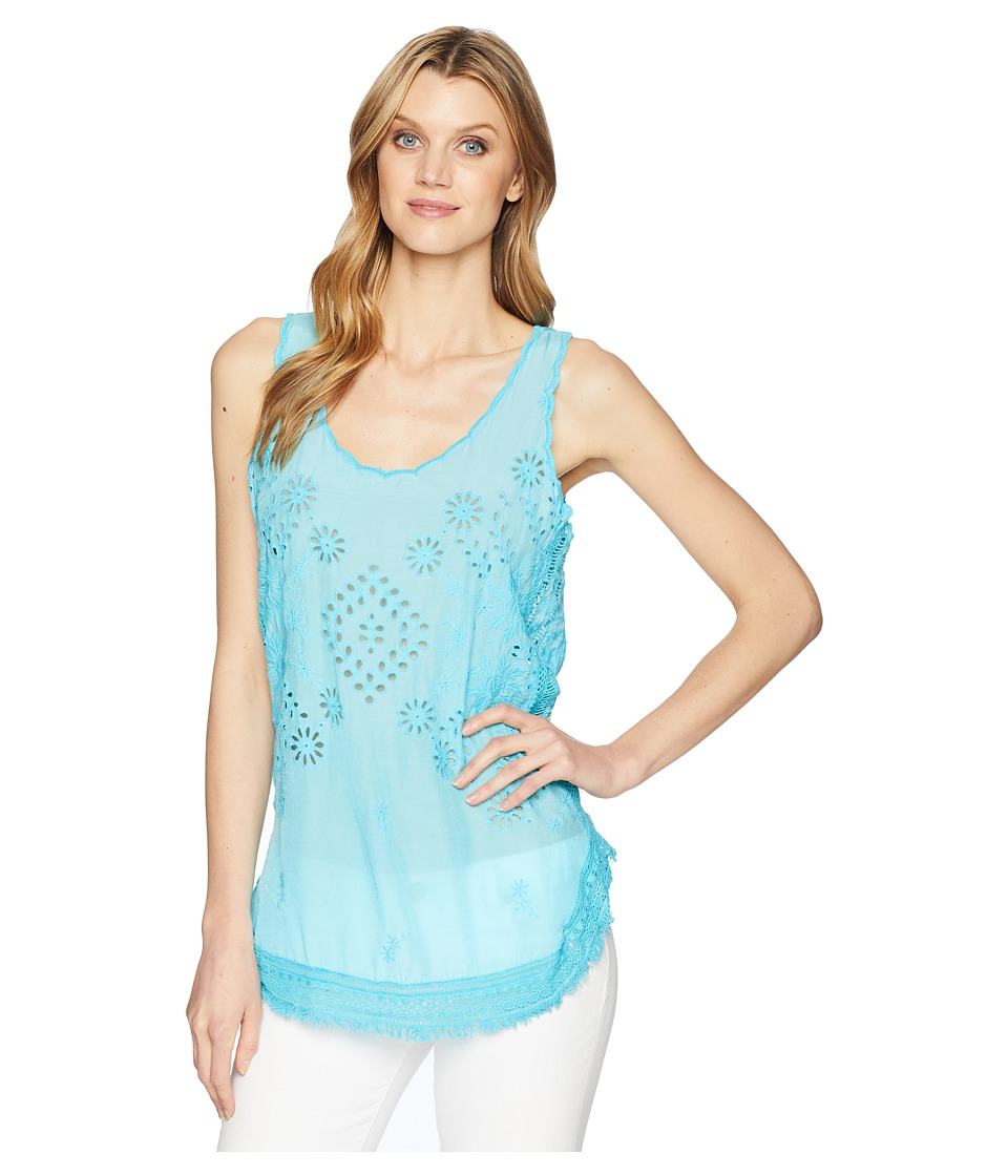 Johnny Was - Vice Tank Top (Clear Sky) Womens Sleeveless