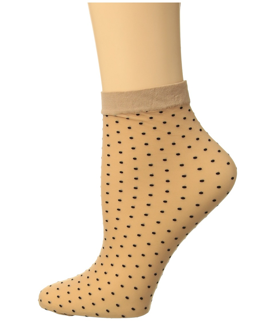 Wolford - Sarah Jessica Socks (Gobi/Black) Womens Crew Cut Socks Shoes
