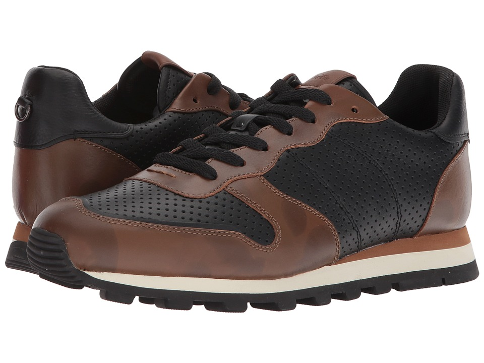 Mens Vintage Style Shoes| Retro Classic Shoes COACH - C118 Perforated Wild Beast Runner BlackSaddle Wild Beast Mens Shoes $250.00 AT vintagedancer.com