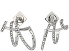 Vince Camuto Pave Triple Hoop Earrings