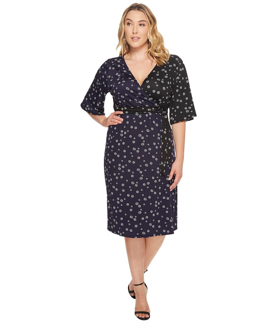 Kiyonna Aria Tie Dress (Dot Mix Print) Women