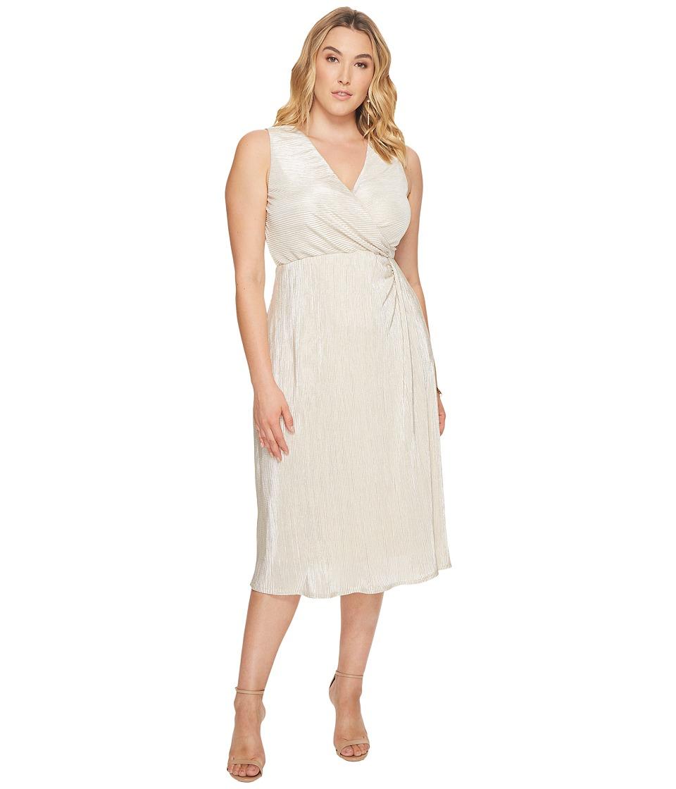 Kiyonna Spotlight Cinch Dress (Moonbeam) Women
