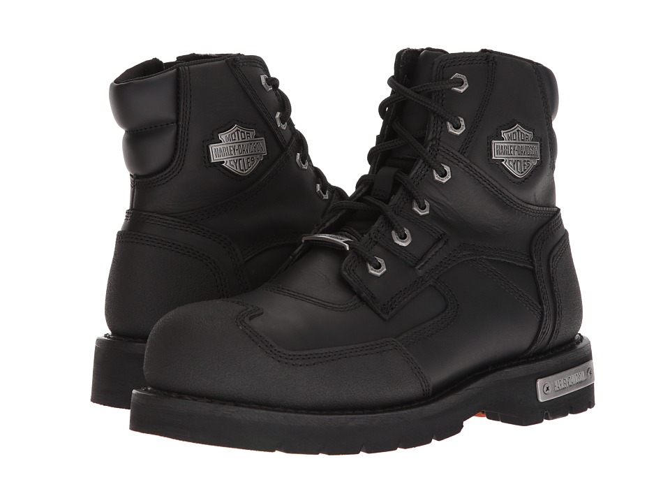 Harley-Davidson - Zak Steel Toe (Black) Mens Lace-up Boots