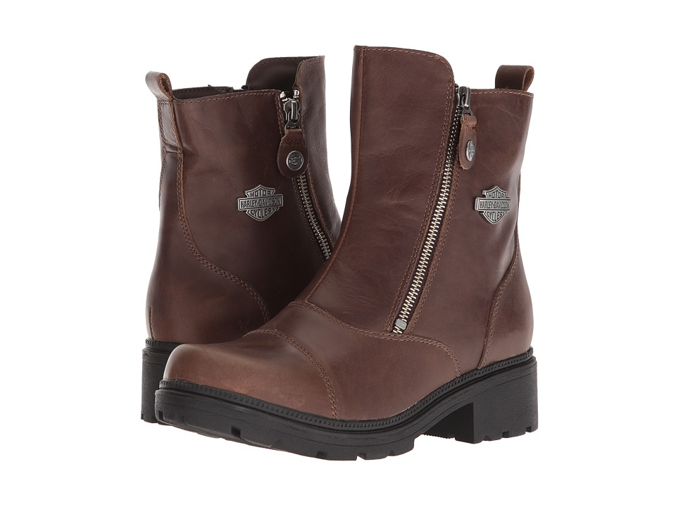 Harley-Davidson - Amherst (Brown) Womens Zip Boots