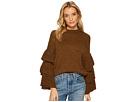 J.O.A. Ruffle Sleeve Sweater