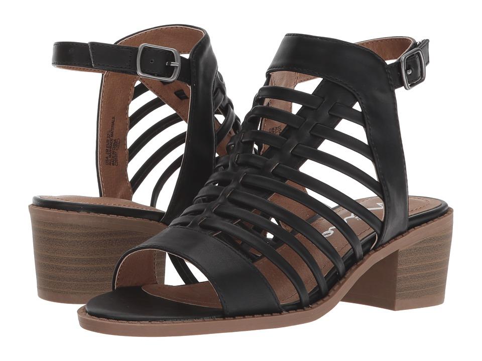 Nina Kids Amelia (Little Kid/Big Kid) (Black Burnished) Girls Shoes
