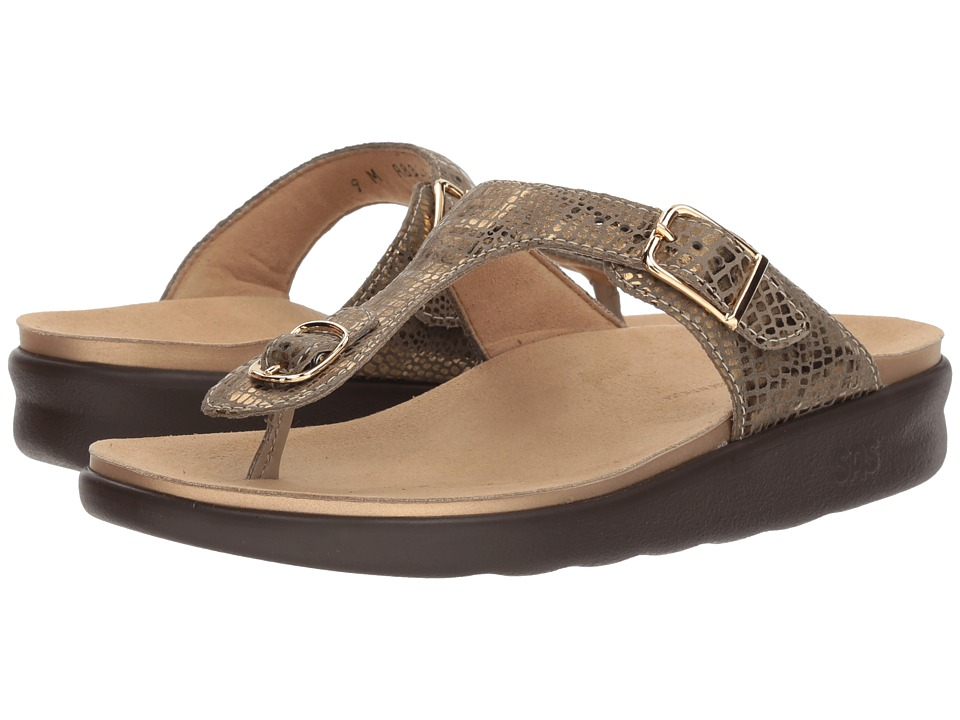 SAS Sanibel (Olive Gold) Women's Shoes