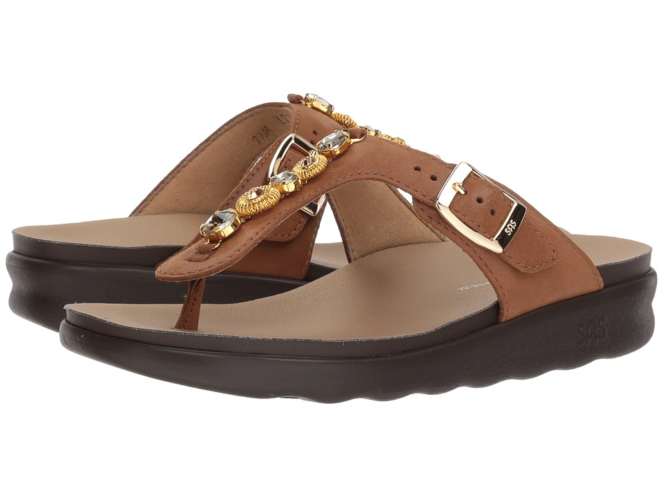 SAS Dazzle (Brown/Gold) Sandals