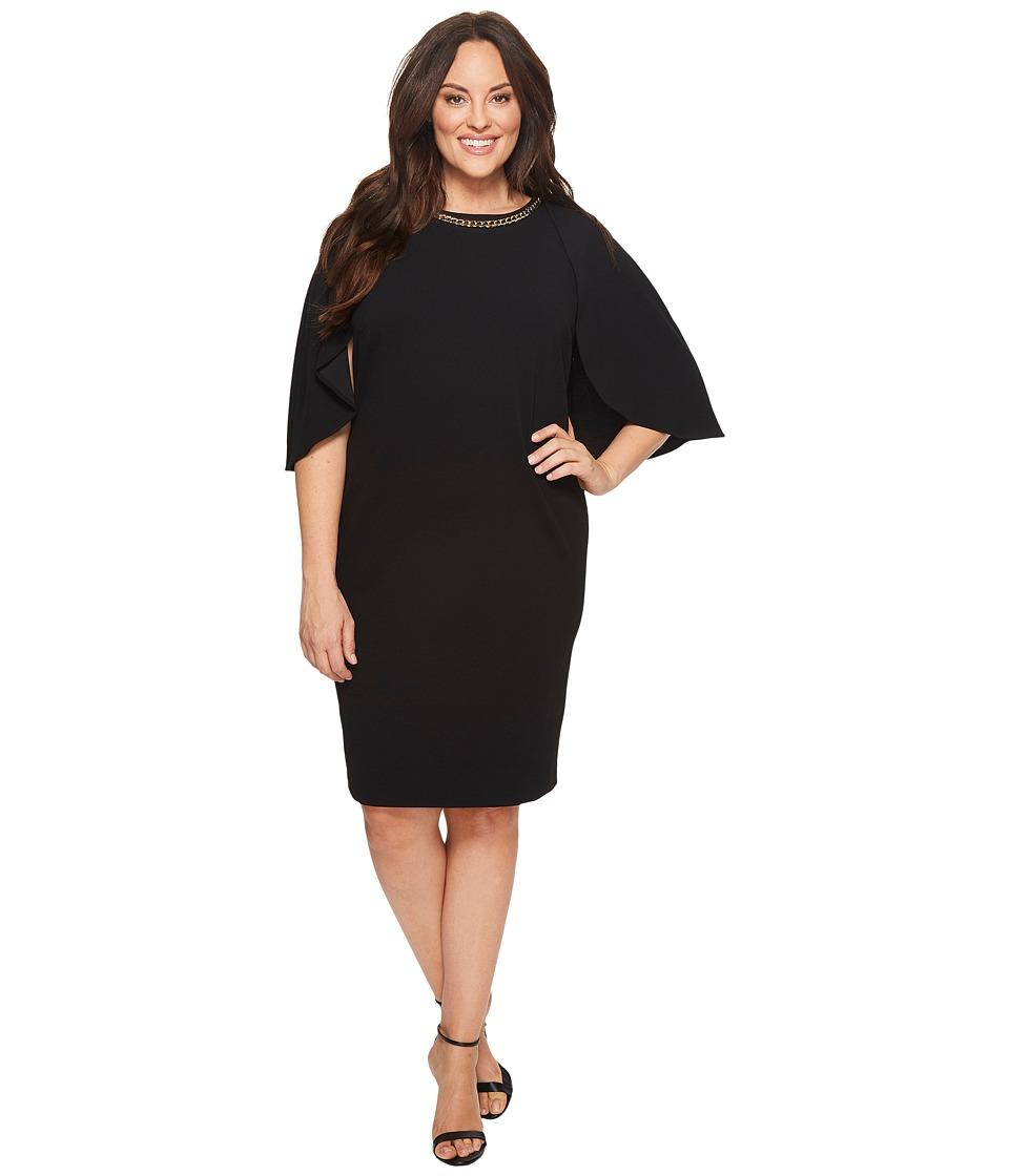 Calvin Klein Plus - Plus Size Crepe Dress w/ Cape