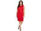 Calvin Klein Plus Plus Size Sleeveless Dress w/ Asymmetrical Ruffle
