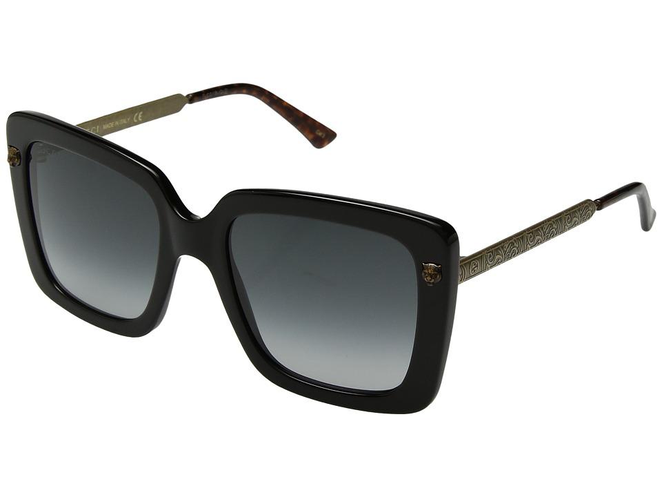 Gucci GG0216S (Black/Grey) Fashion Sunglasses